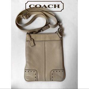 Coach Tan Leather Crossbody